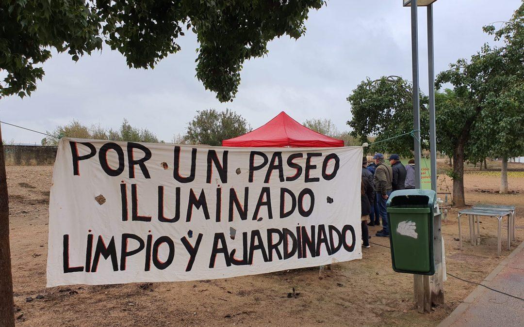 """""""Güevada"""" con chorizos por la rehabilitación del Paseo de San Julián y por la Emergencia Climática"""