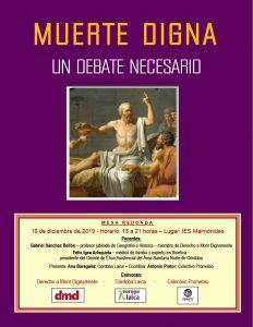 Muerte digna: un debate necesario @ IES Maimónides