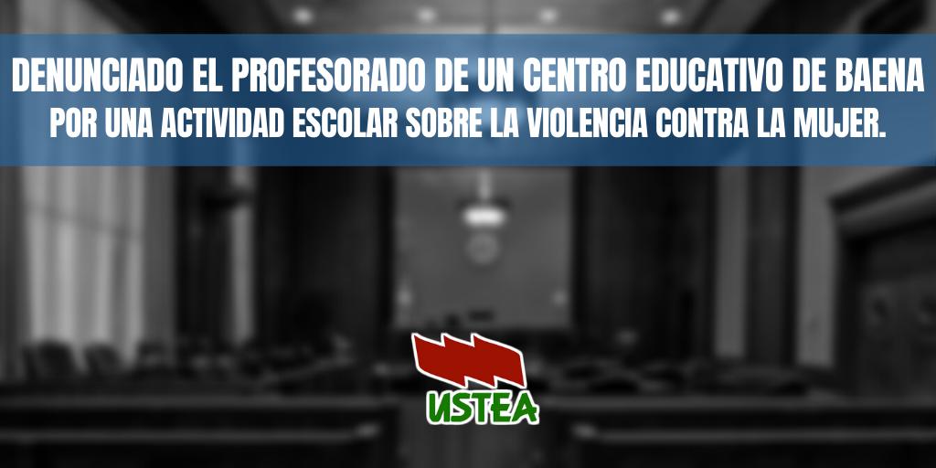 Una familia denuncia a un profesor en Baena por hablar en clase sobre violencia de género
