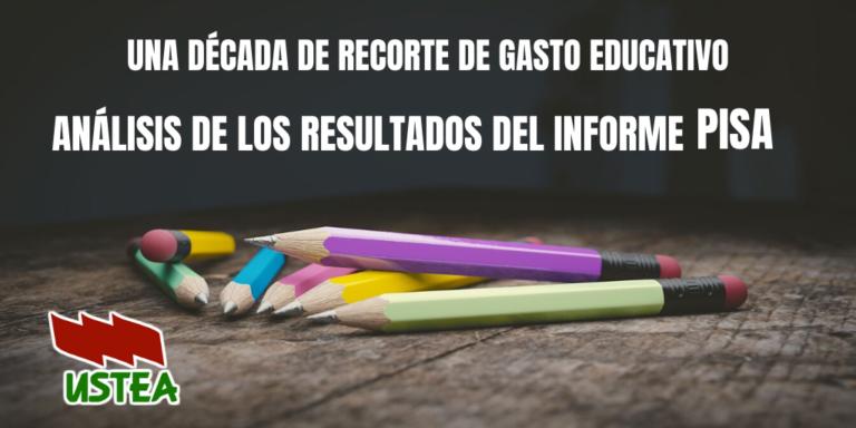 Los recortes educativos están detrás de los malos resultados del Informe PISA