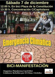 Bici-Manifestación por la Emergencia Climática @ Plaza de la Constitución