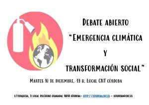 """Debate abierto: """"Emergencia Climática y Transformación Social"""" @ Local CNT"""