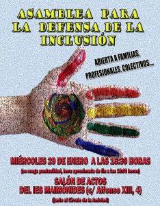 Asamblea para la Defensa de la Inclusión @ IES Maimónides