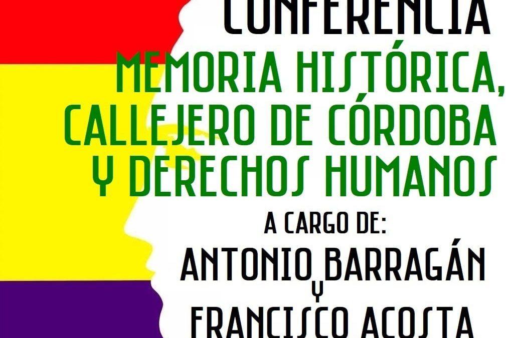 Memoria Histórica, callejero de Córdoba y Derechos Humanos
