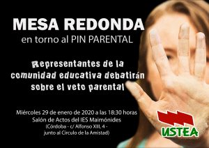 Mesa redonda en torno al PIN parental @ IES Maimónides