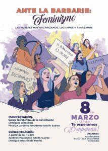 """Manifestación 8 de marzo: """"Ante la barbarie, FEMINISMO"""" @ Antiguos Juzgados"""