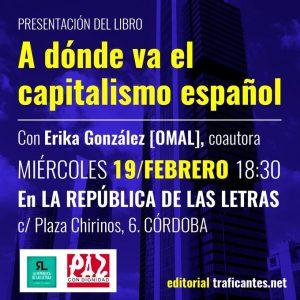 """Presentación del libro """"A dónde va el capitalismo español"""" @ Librería La República de las Letras"""