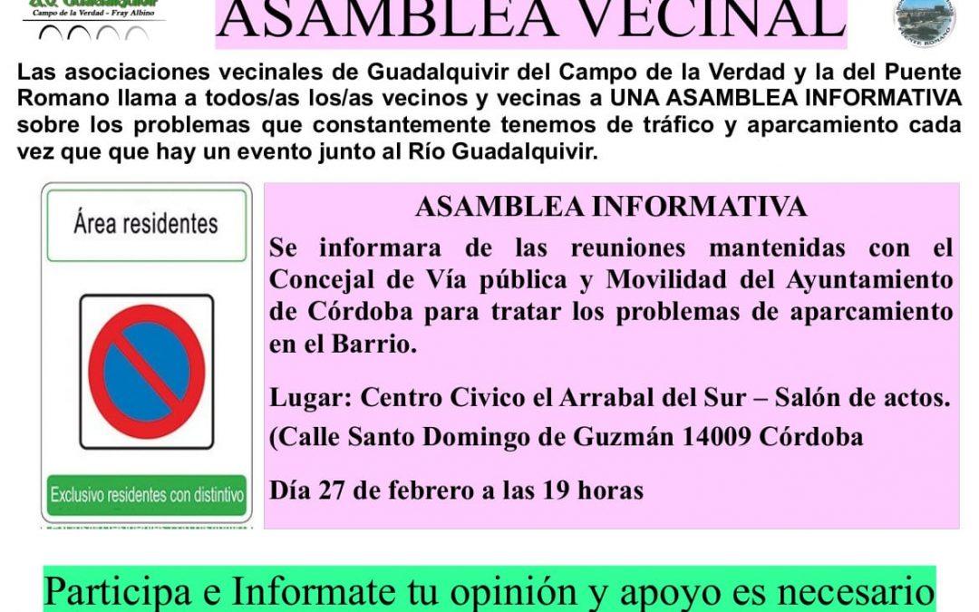 Asamblea Vecinal de la A.V. Guadalquivir del Campo de la Verdad