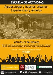 Agroecología y huertos urbanos: experiencias y anhelos @ Centro Cívico Vallehermoso