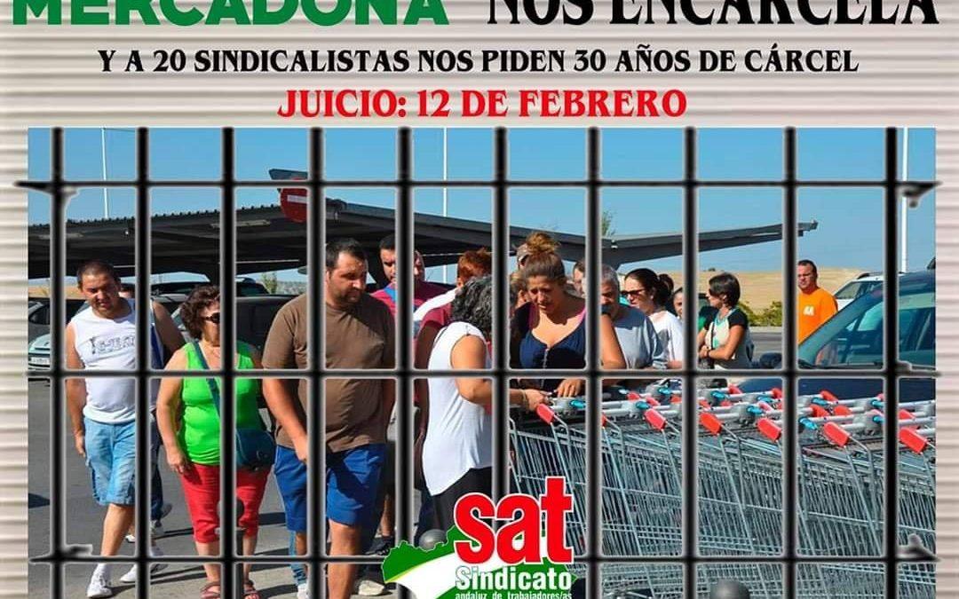 """Miembros del Sindicato Andaluz de Trabajadores van mañana a juicio por """"la expropiación a Mercadona"""" en 2012"""