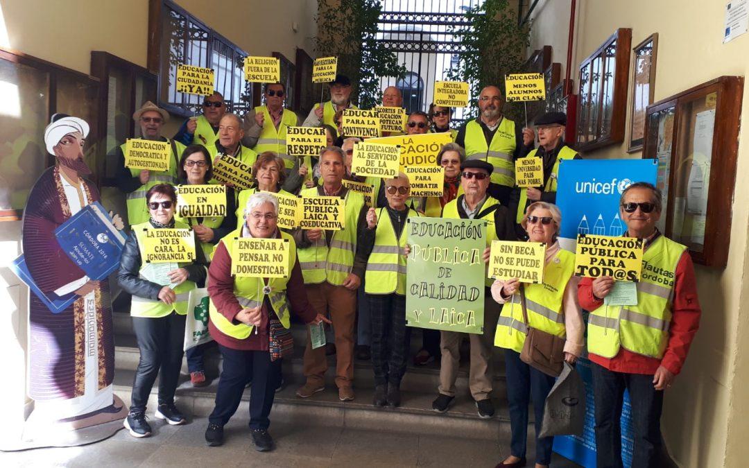 Colectivo Yayoflauta en Defensa de la Educación Pública Andaluza.