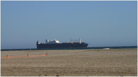 El pasado viernes recaló en Motril el barco saudí Bahri Jeddah con el propósito de cargar armas