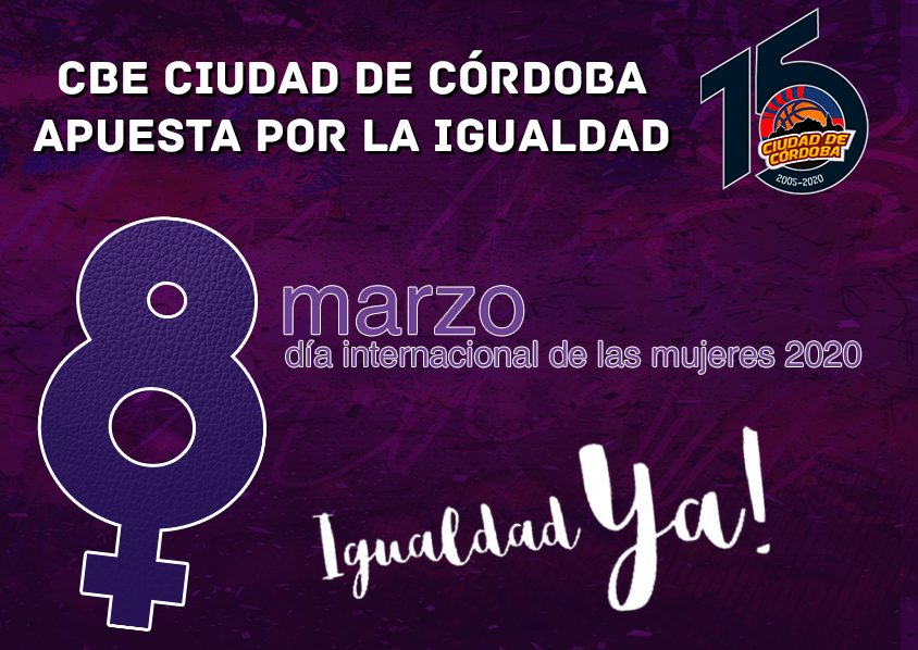 El CBE Ciudad de Córdoba se implica de nuevo con la sociedad ante el 8M