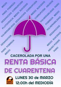 Cacerolada por una Renta Básica de Cuarentena @ Toda España