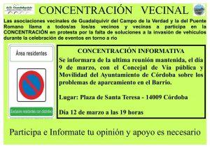 Concentración informativa aparcamientos en Distrito Sur @ Plaza de Santa Teresa
