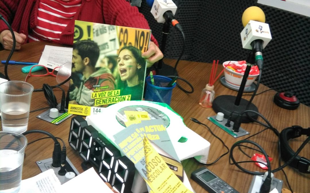 """Nuevo """"En Clave de Amnistía"""", en Paradigma Radio, conducido por María Jesús Monedero, hoy Acoso Escolar"""