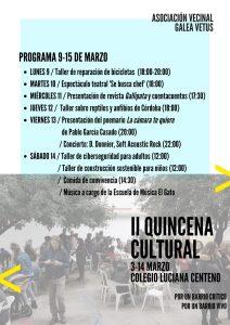 II Quincena cultura de la A.V. Galea Vetus @ Colegio Luciana Centeno