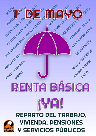 La Marea Básica contra el Paro y la Precariedad exige la implantación de la Renta Básica de Cuarentena