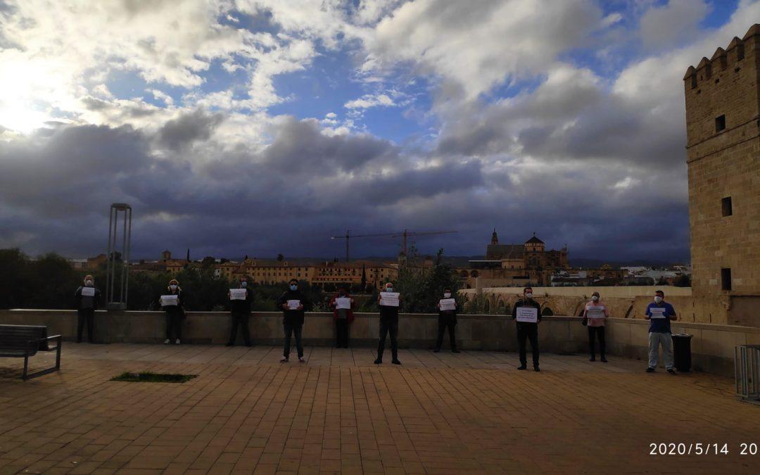 Protesta en favor de la Renta Básica de Cuarentena