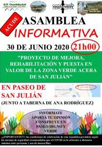 Asamblea Informativa en el Paseo de San Julián @ Paseo de San Julián