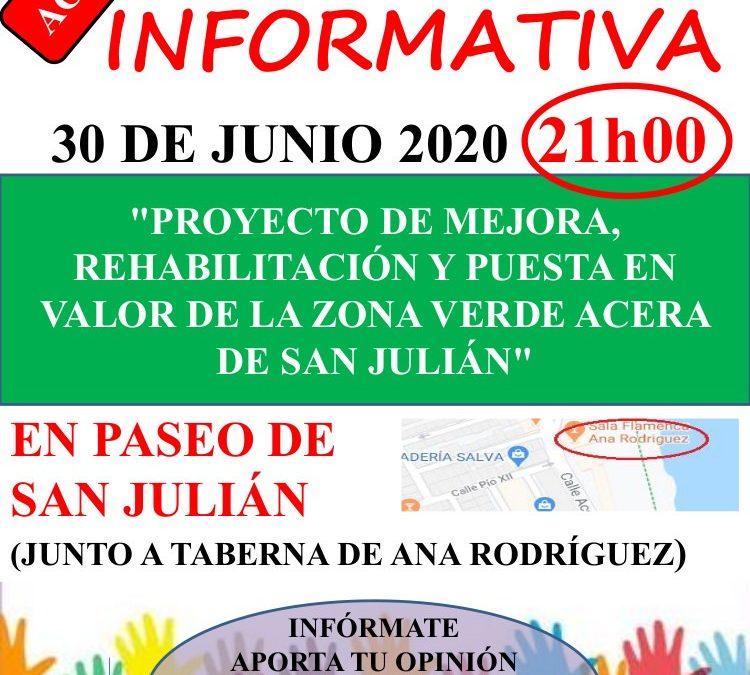 Asamblea Informativa en el Paseo de San Julián