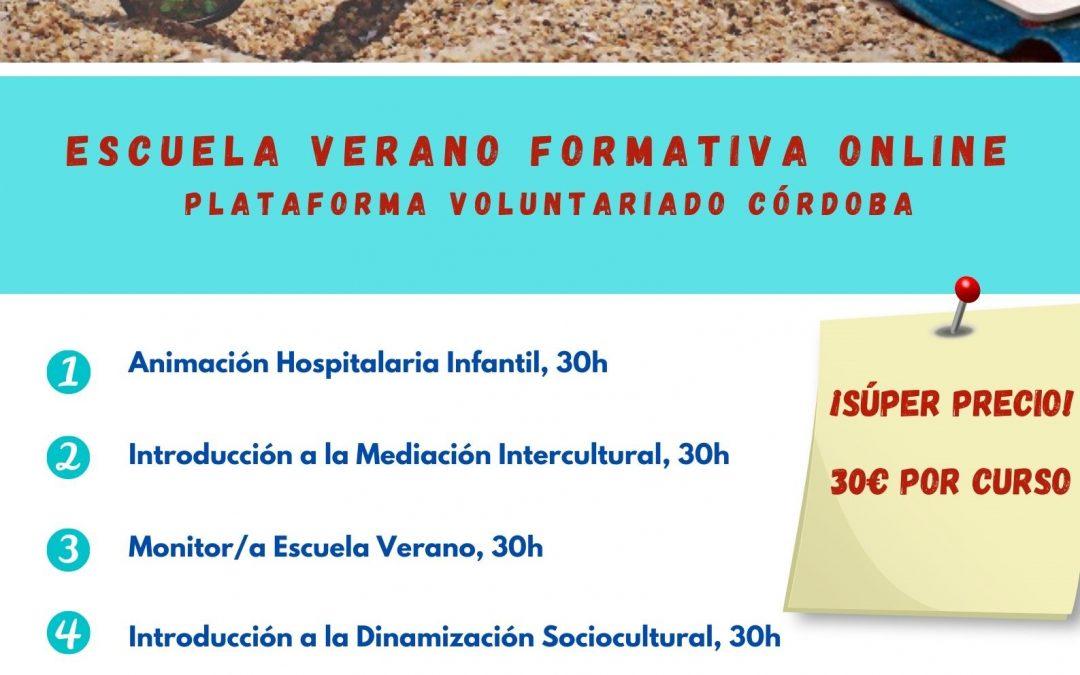 La Plataforma del Voluntariado de Córdoba lanza la  Escuela Formativa de Verano Online