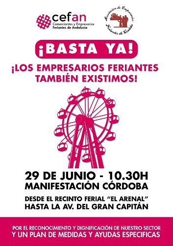 Los comerciantes feriantes de Andalucía se manifiestan en Córdoba