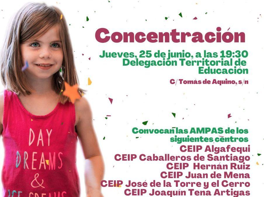 USTEA Córdoba reafirma su apuesta por la educación pública mostrando su apoyo incondicional a la movilización de las AMPAS