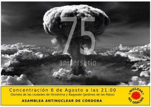 Concentración por el 75 Aniversario del bombardeo de Hiroshima y Nagasaki @ Glorieta de las ciudades de Hiroshima y Nagasaki