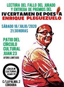 """IV Certamen de Poesía """"Enrique Pleguezuelo"""" @ C.C. Juan 23"""