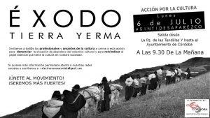 """Acción por la Cultura: """"Sin tí desaparezco"""" @ Plaza de las Tendillas"""