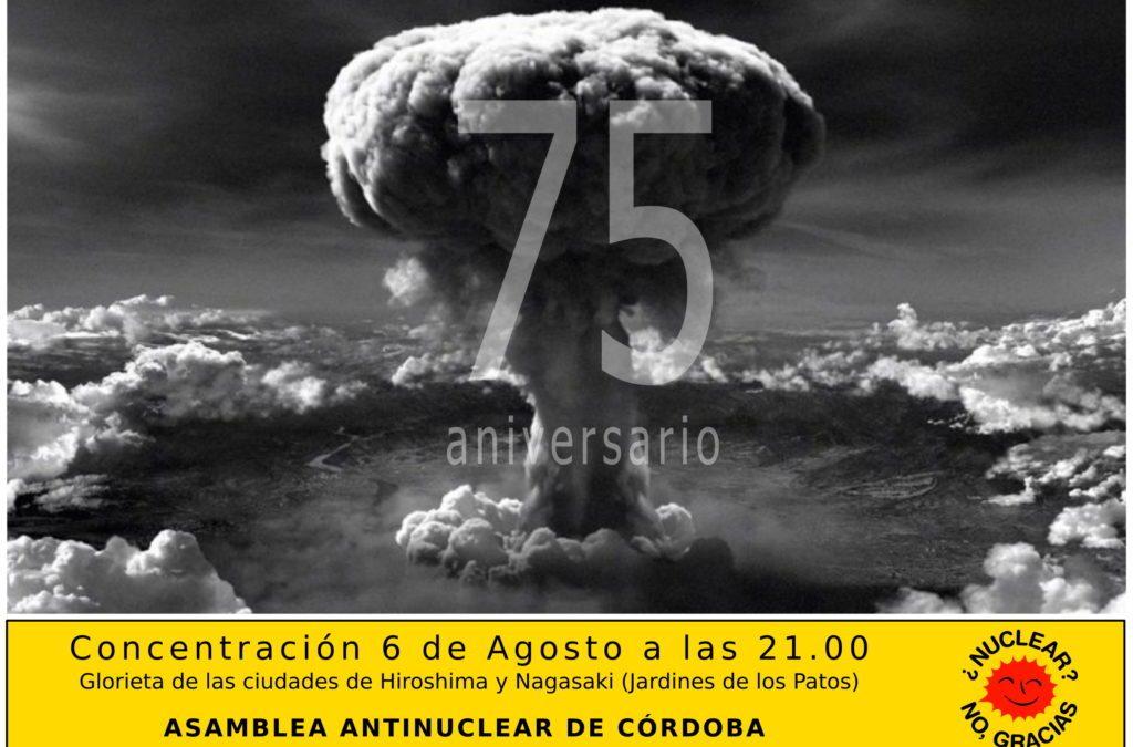 Concentración antinuclear en el 75 aniversario de las bombas atómicas de Hiroshima y Nagasaki