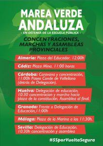 Concentración por una vuelta al cole segura @ Tras Delegación de la Junta de Andalucía