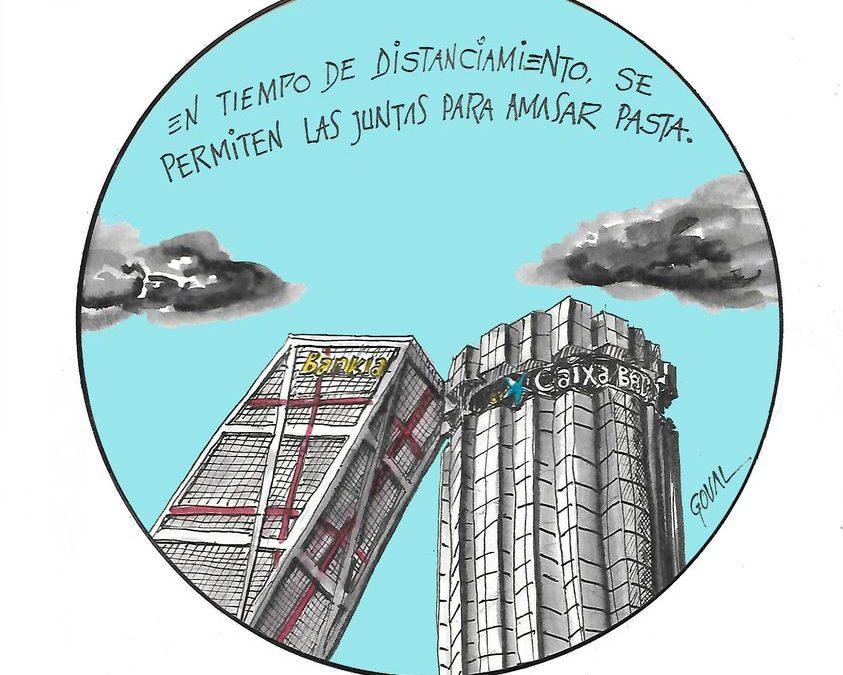 La Plataforma de Afectados por la Hipoteca critica al Gobierno por permitir la absorción de Bankia por Caixabank