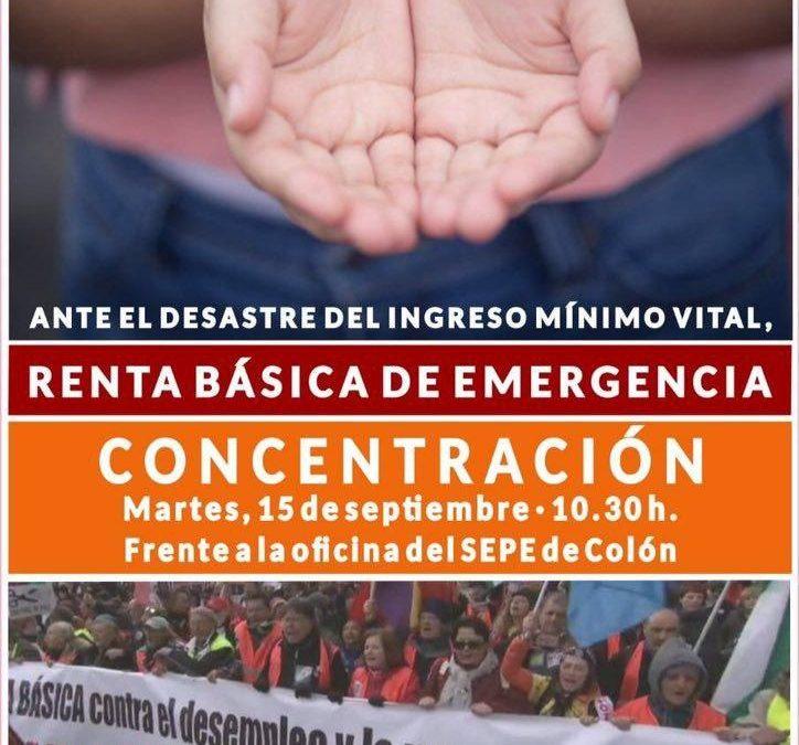 Las Marchas por la Dignidad se concentrarán frente al SEPE en protesta por las deficiencias del Ingreso Mínimo Vital y por una Renta Básica de Emergencia