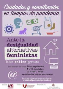 """Paz con Dignidad organiza un taller """"online"""" gratuito """"cuidados en tiempos de pandemia"""""""