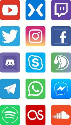 Las redes sociales: felices por el mundo…