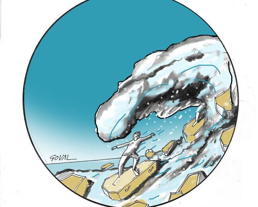 """La viñeta de Goval: """"surfeando en la segunda ola"""""""