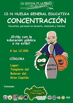 La Marea Verde Andaluza convoca huelga educativa para mañana día 12 de noviembre