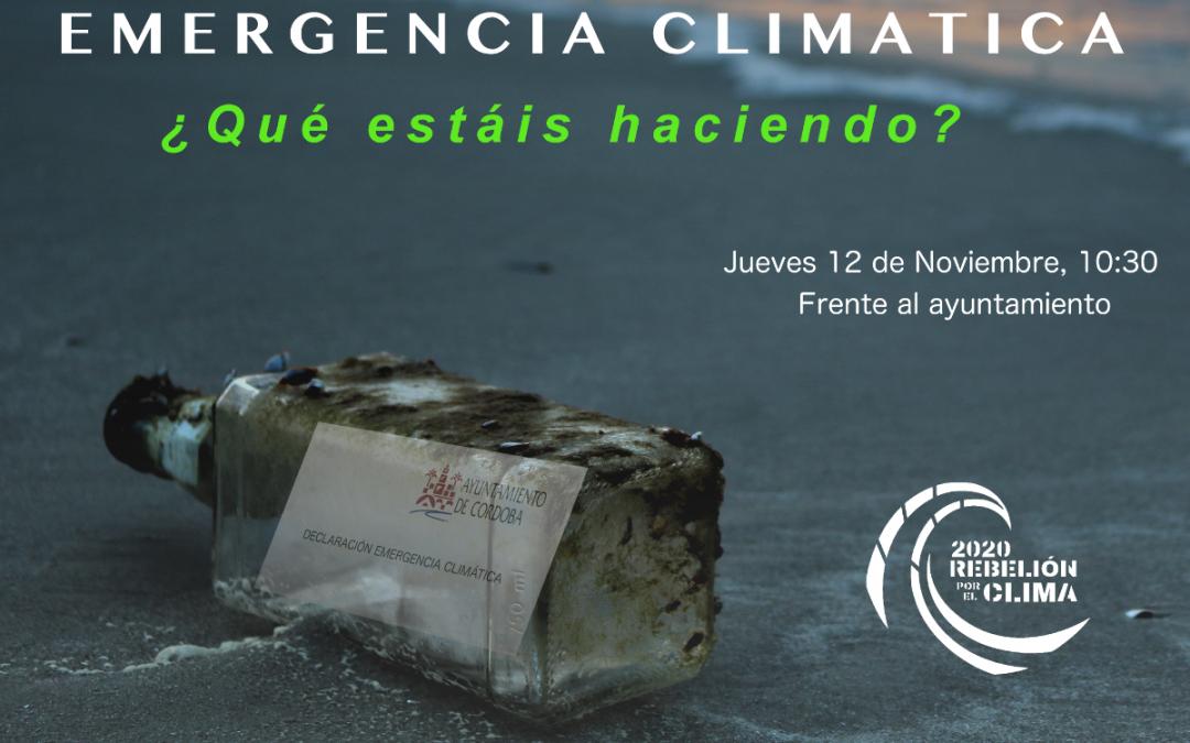Rebelión por el Clima Córdoba convoca una concentración el jueves en la puerta del Ayuntamiento