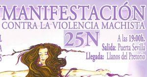 Manifestación contra la violencia machista @ Puerta Sevilla