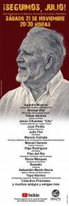 Homenaje a Julio Anguita @ Acto virtual en el Canal de YouTube de Prometeo