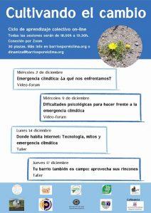 Cultivando el cambio. Acción de Barrios por el Clima @ Evento telemático