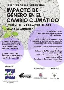 Taller telemático sobre el impacto de género en el cambio climático @ Córdoba