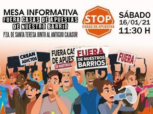 Stop casas de apuestas @ Plaza de Santa Teresa