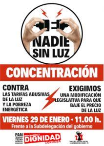 Concentración contra las tarifas abusivas de la luz y la pobreza energética @ Subdelegación del Gobierno