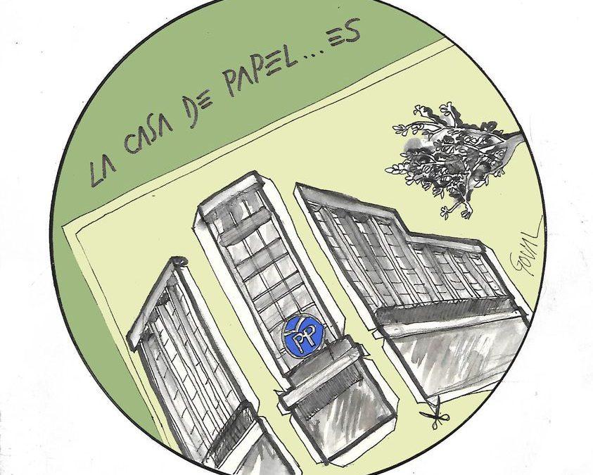 "La viñeta de Goval: ""La casa de papel… es"""