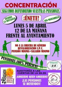 """Concentración """"No a la brecha de género en las pensiones, revalorización del IPC e igualación del salario mínimo con la pensión mínima"""" @ Ayuntamiento de Córdoba"""