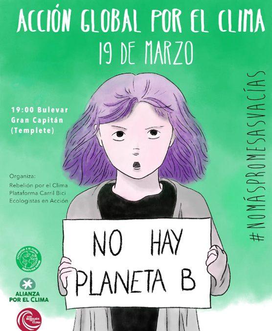 En el marco de la convocatoria estatal promovida por Friday for Future, Rebelión por Clima Córdoba convoca una concentración el 19 de marzo