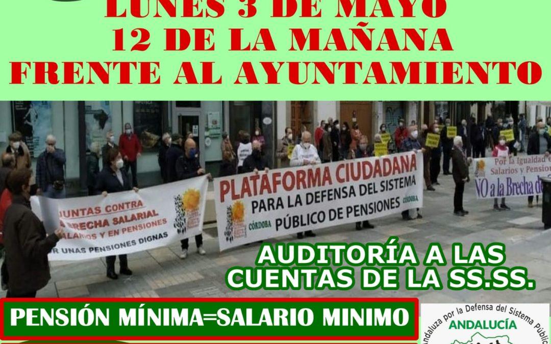 La Plataforma Cordobesa en Defensa de las Pensiones pide luchar contra el odio fascista de VOX